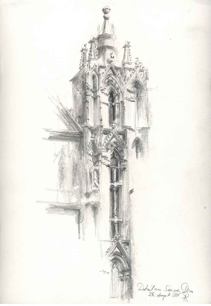 Zeichnung Dom Siena Roland Gäfgen