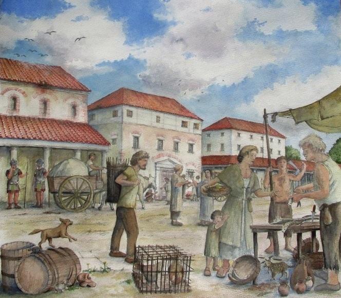 Bregenz Römer Brigantium Modell Illustration Archäologie Roland Gäfgen blick zeit bild
