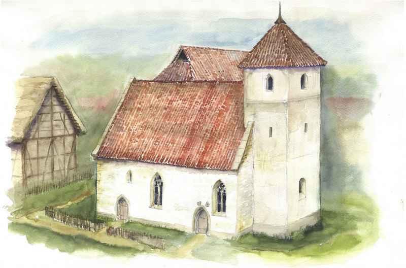 Kornwestheim Modell Illustration Archäologie Roland Gäfgen blick zeit bild