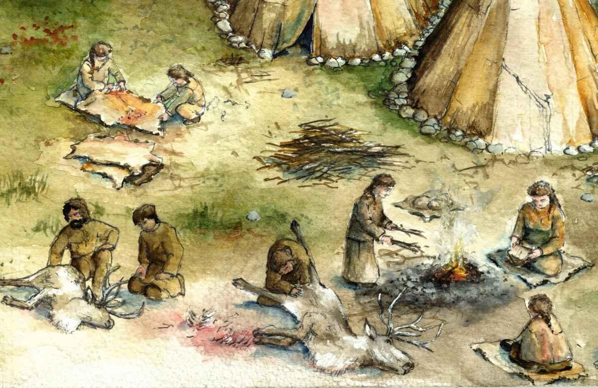 Steinzeit Schussenquelle Federsse Museum Bad Buchau Modell Illustration Archäologie Roland Gäfgen blick zeit bild
