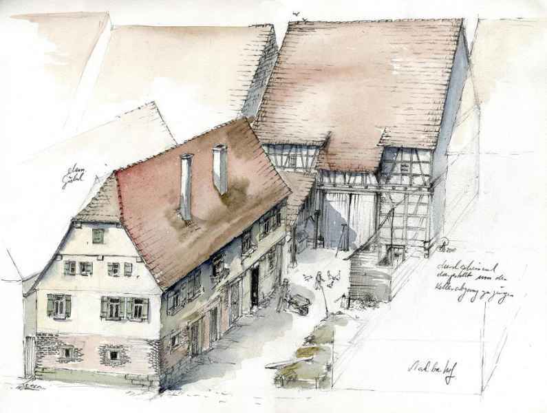 Malmsheim Heimatmuseum Modell Illustration Archäologie Roland Gäfgen blick zeit bild