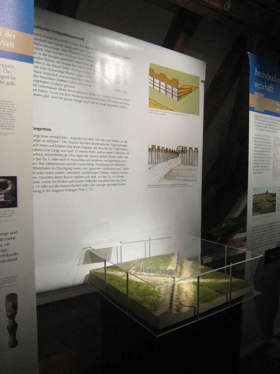 Landesmuseum Württemberg Stuttgart Kelten Zangentor Heidengraben Modell Illustration Archäologie Roland Gäfgen blick zeit bild